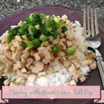 Turkey with Green Onion Salt Dip